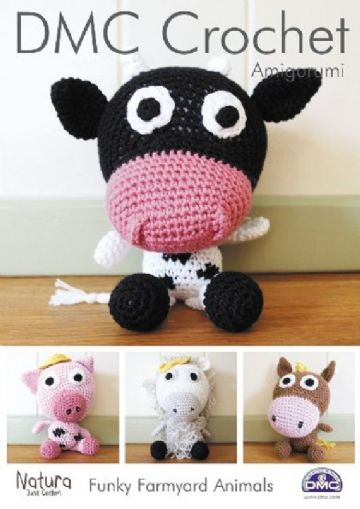 DMC Crochet pattern - FUNKY FARMYARD ANIMALS